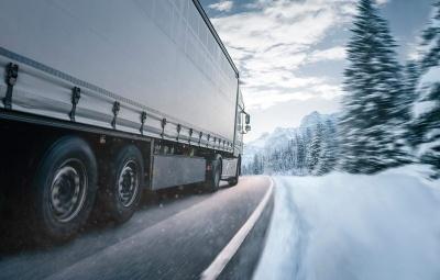 conducir un camión en invierno